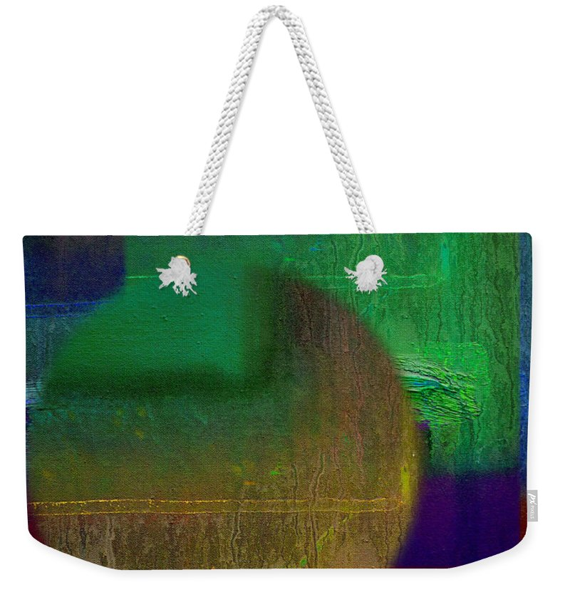 Landscape Weekender Tote Bag featuring the painting Deep Geometry by Charles Stuart