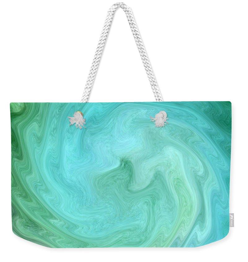 Abstract Art Weekender Tote Bag featuring the digital art Deep In Serenity by Krissy Katsimbras