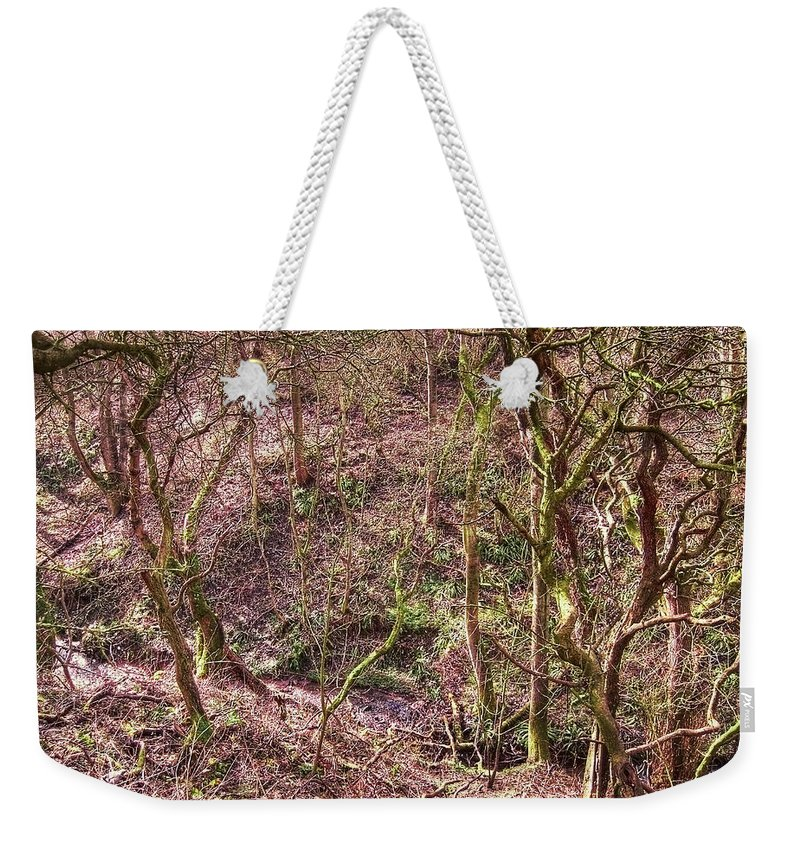 Abstract Weekender Tote Bag featuring the photograph Deep In Woods by Svetlana Sewell