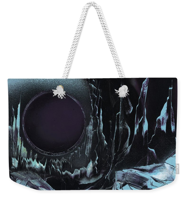 Deep Purple Moon Weekender Tote Bag featuring the painting Deep Purple by Jason Girard