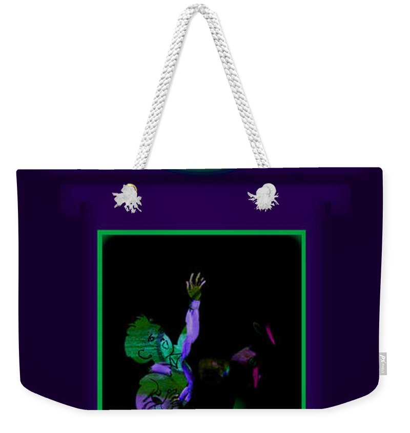 Palladian Weekender Tote Bag featuring the painting Deep Violet by Charles Stuart