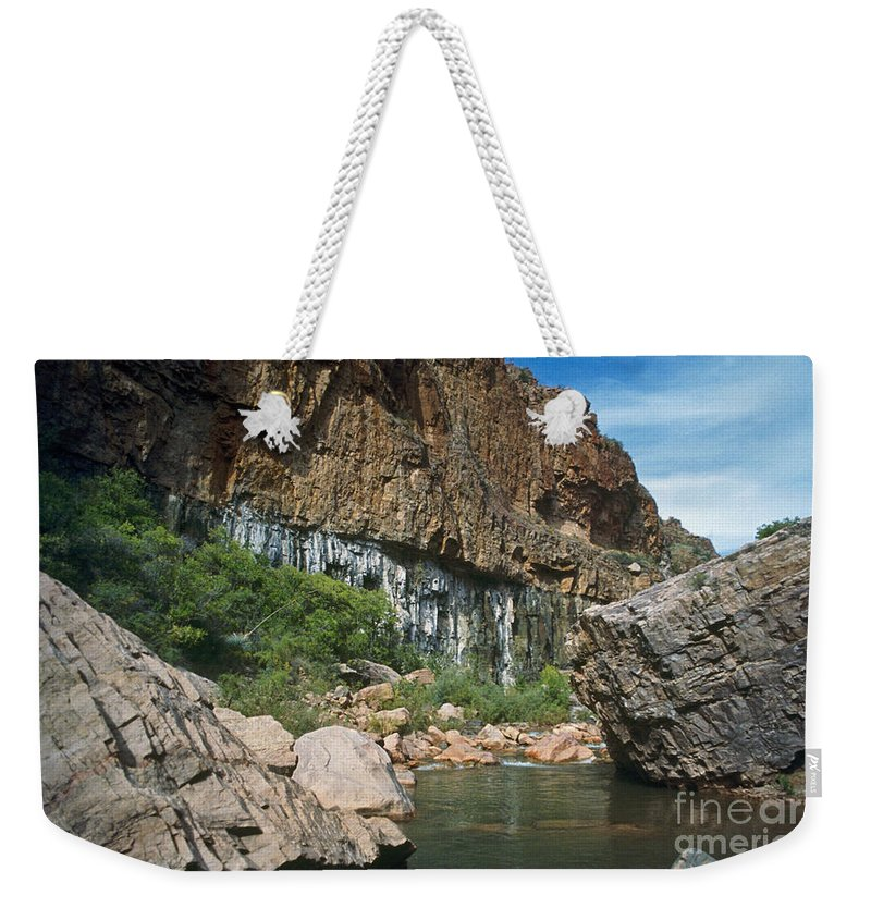 Landscape Weekender Tote Bag featuring the photograph Deep Water by Kathy McClure
