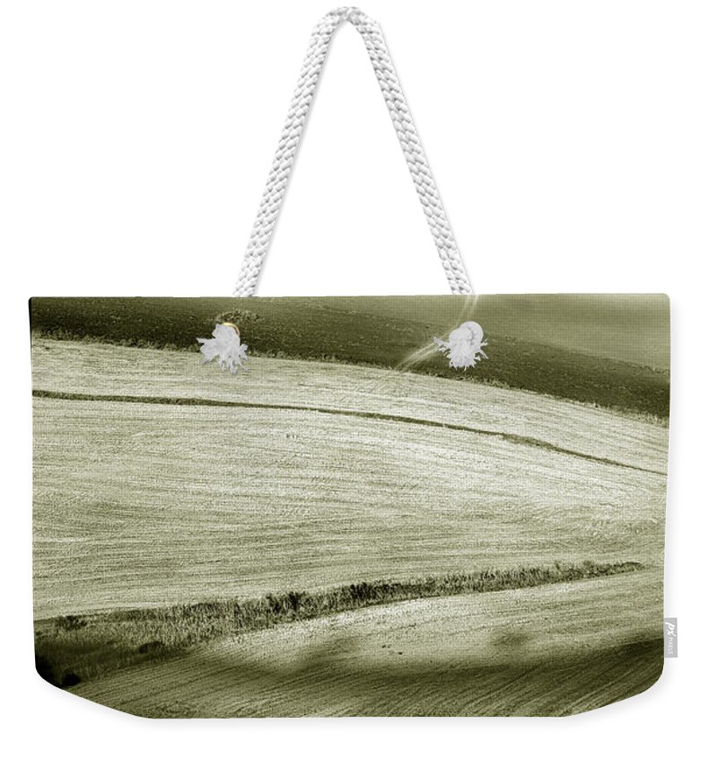 Landscape Weekender Tote Bag featuring the photograph Deepening Shadows by Mal Bray