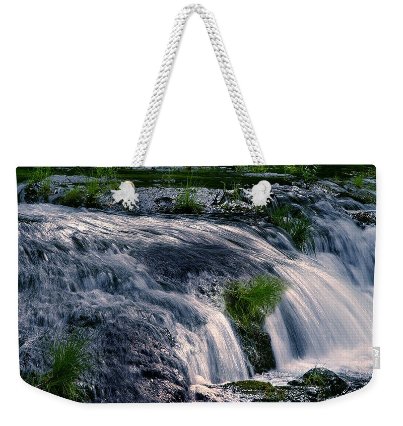 Creek Weekender Tote Bag featuring the photograph Deer Creek 01 by Peter Piatt