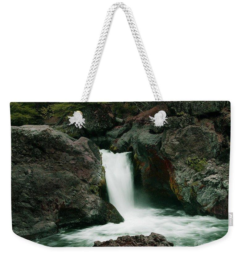 Creek Weekender Tote Bag featuring the photograph Deer Creek Falls by Peter Piatt