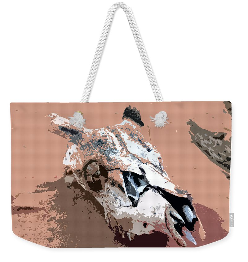 Skull Weekender Tote Bag featuring the painting Deer Spirit by David Lee Thompson
