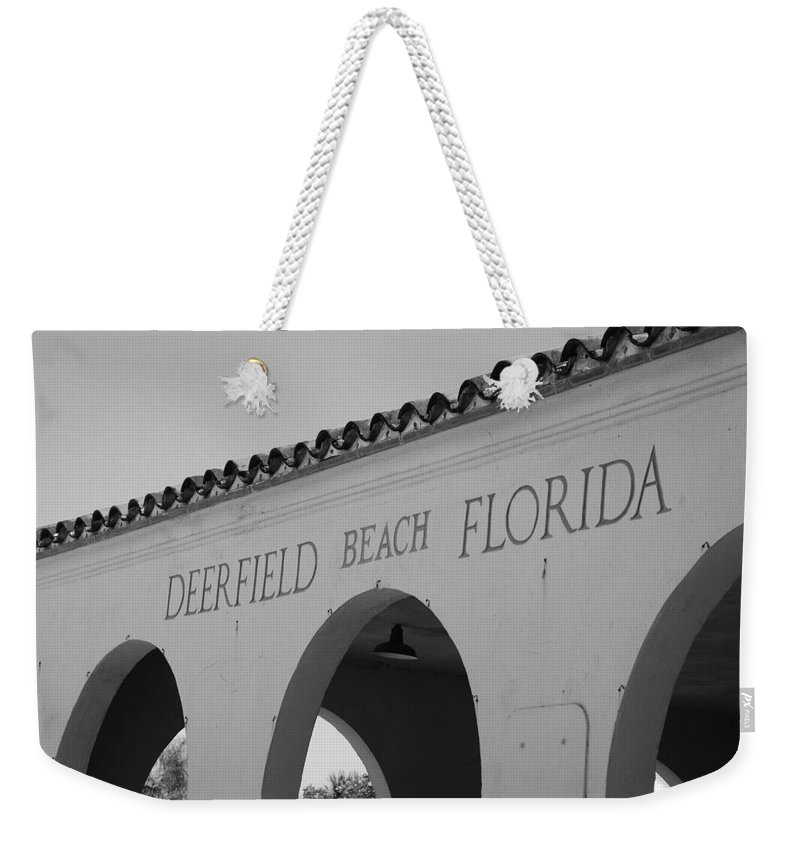 Black And White Weekender Tote Bag featuring the photograph Deerfield Beach Florida by Rob Hans