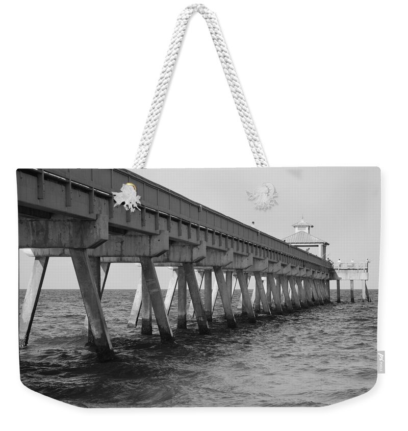 Architecture Weekender Tote Bag featuring the photograph Deerfield Beach Pier by Rob Hans
