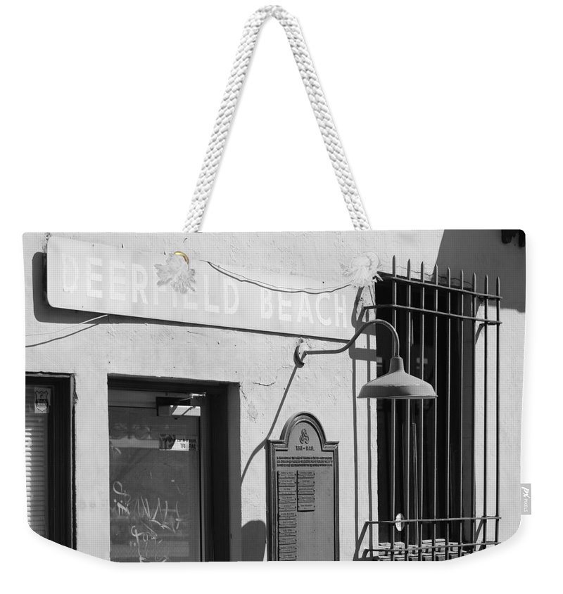 Train Station Weekender Tote Bag featuring the photograph Deerfield Beach Train Station by Rob Hans