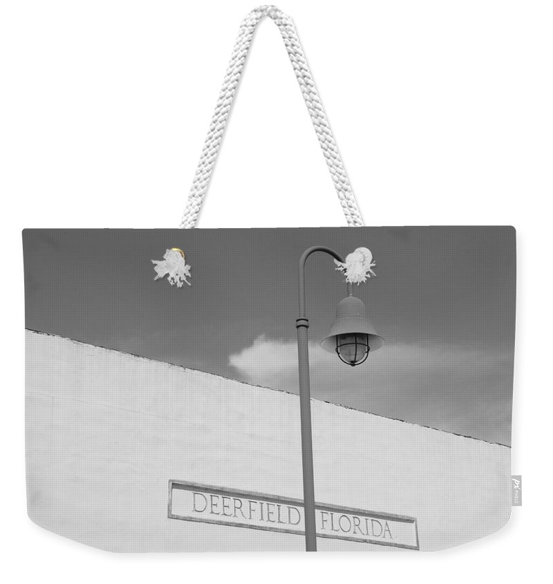 Black And White Weekender Tote Bag featuring the photograph Deerfield Florida by Rob Hans