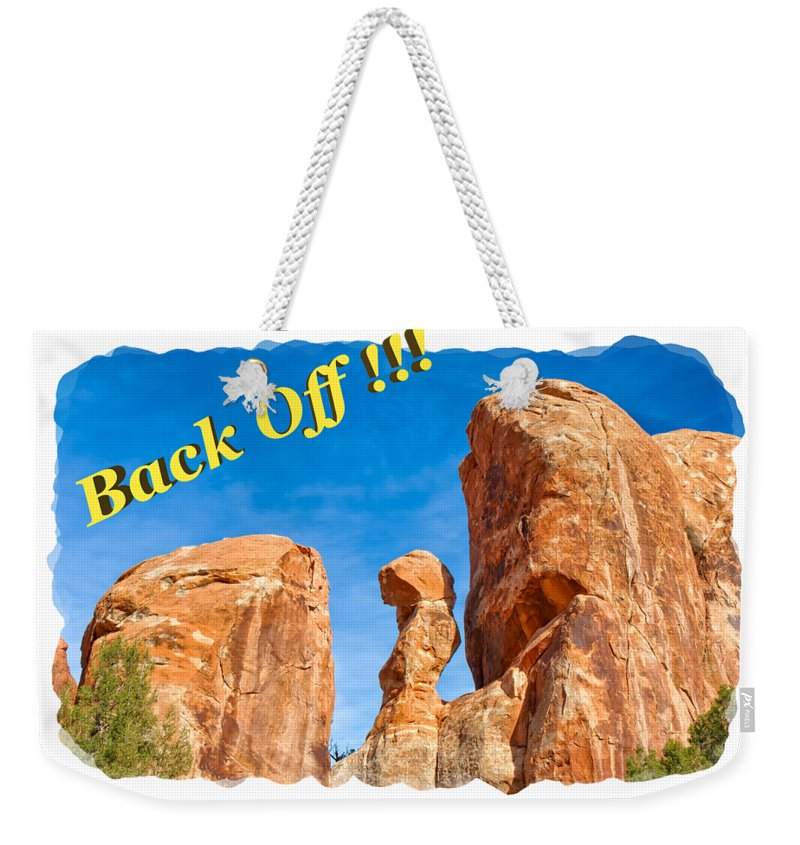 Landscape Weekender Tote Bag featuring the photograph Defiant Rock 2 by John M Bailey