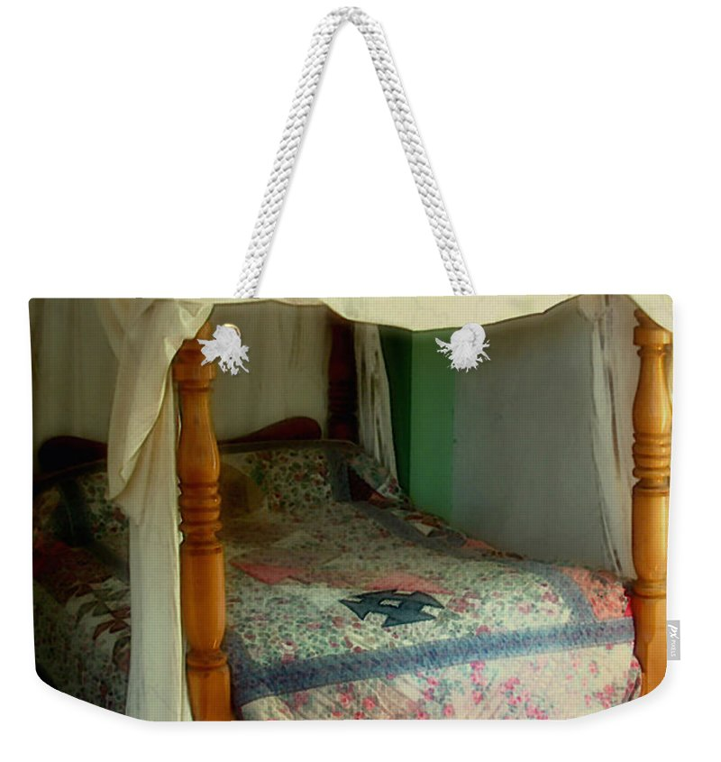 Bed Weekender Tote Bag featuring the painting Delft Light, New England by RC deWinter