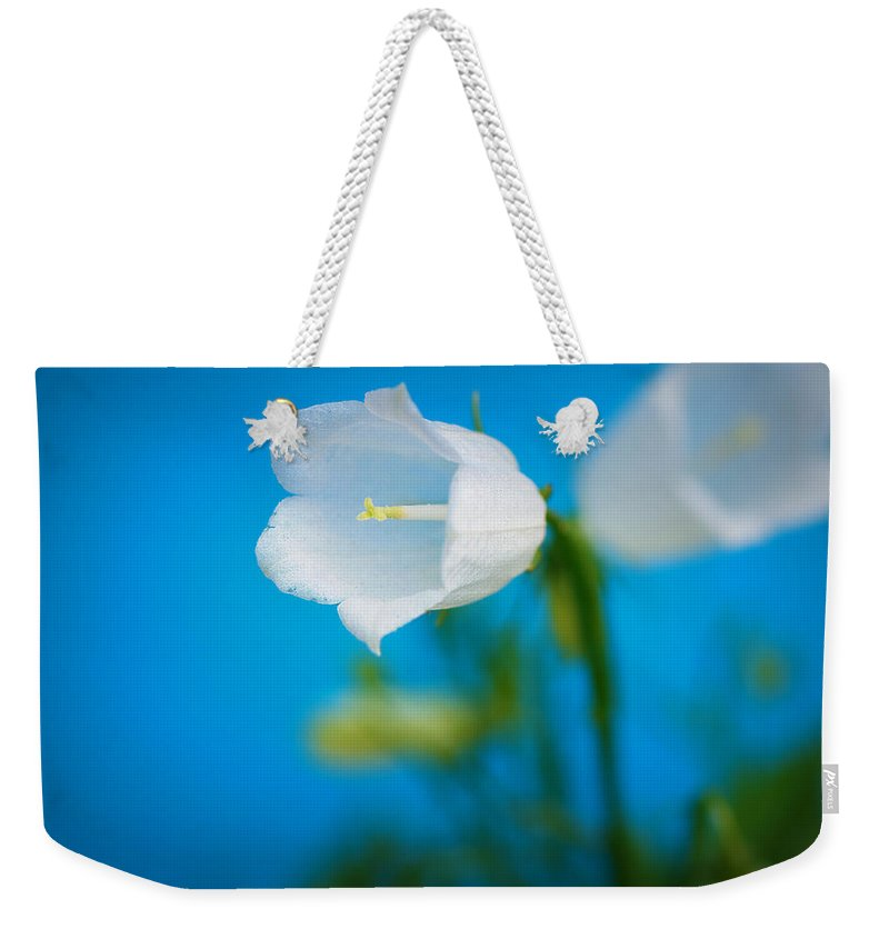 Bell Weekender Tote Bag featuring the photograph Delicate Bells by Lisa Knechtel