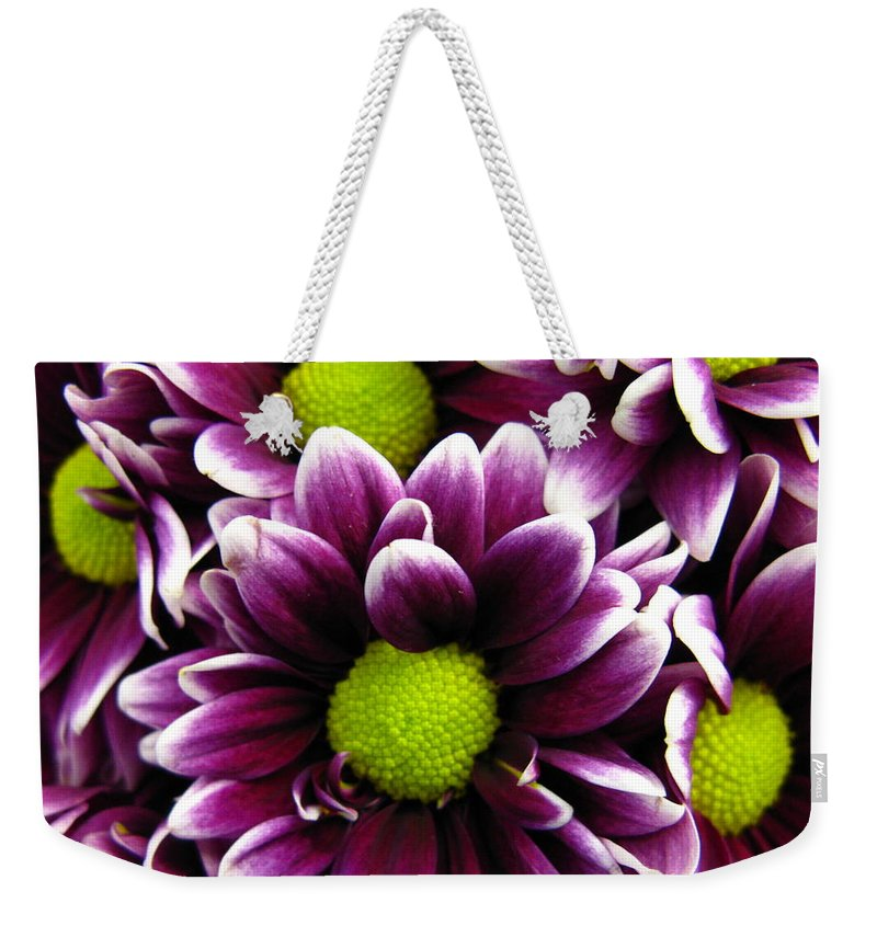 Purple Weekender Tote Bag featuring the photograph Delicate Purple by Rhonda Barrett