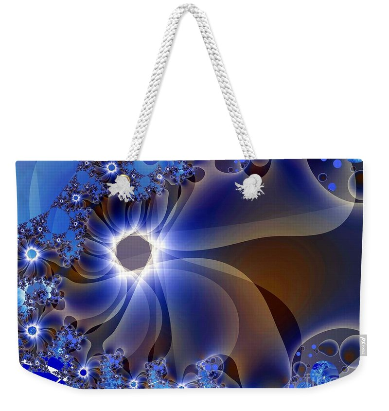 Delicate Weekender Tote Bag featuring the digital art Delicatus by Ron Bissett
