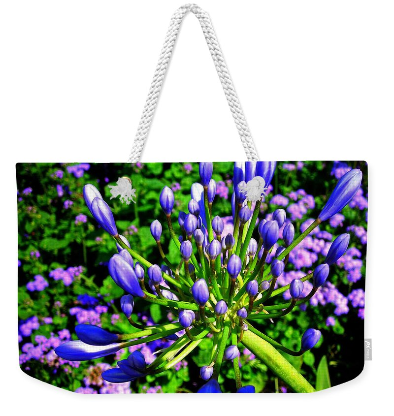 Flower Weekender Tote Bag featuring the photograph Delightful ... by Juergen Weiss