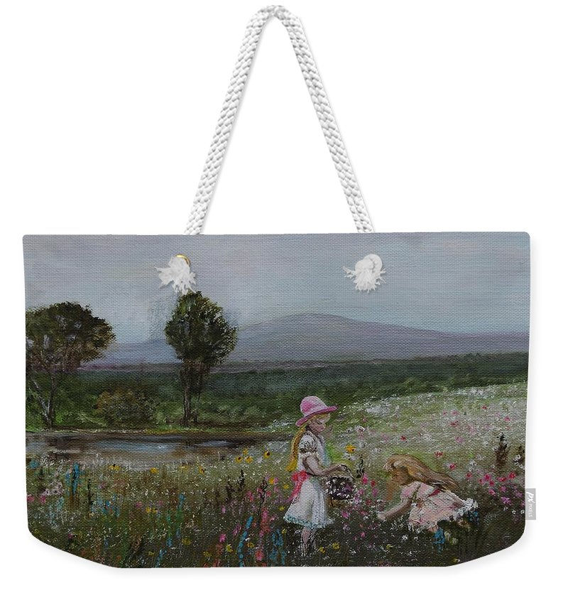 Impressionist Weekender Tote Bag featuring the painting Delights Of Spring - Lmj by Ruth Kamenev