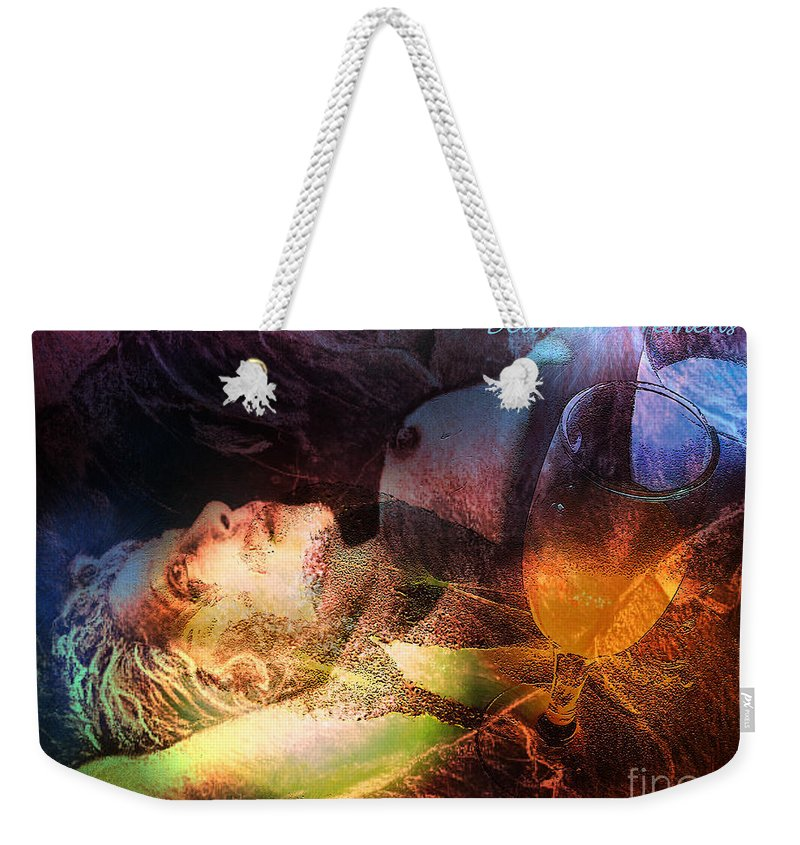 Fantasy Weekender Tote Bag featuring the painting Delirium Tremens by Miki De Goodaboom