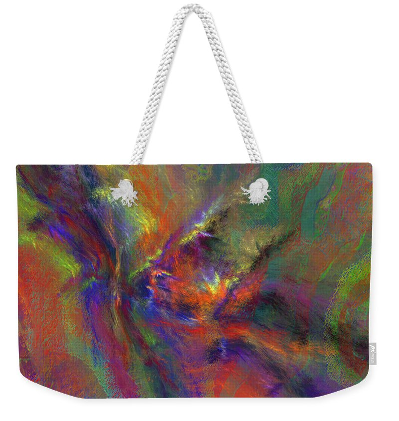 Pastel Weekender Tote Bag featuring the digital art Delta Flow by Diane Parnell
