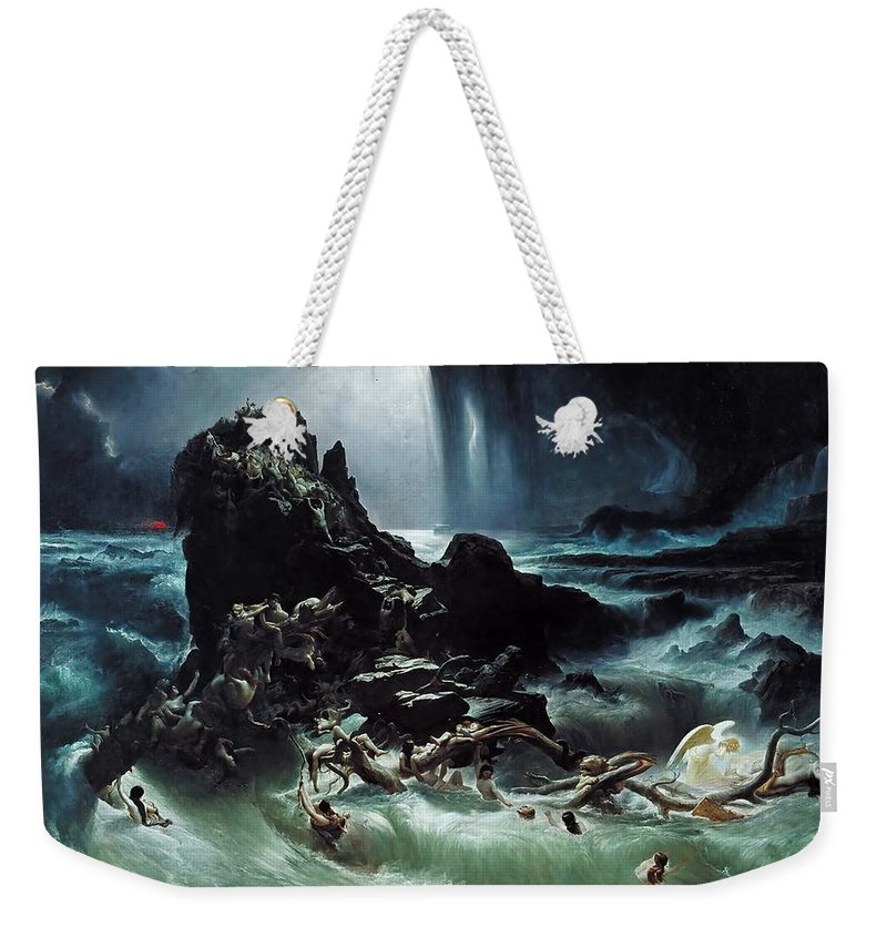 Deluge Weekender Tote Bag featuring the painting Deluge by Francis Danby