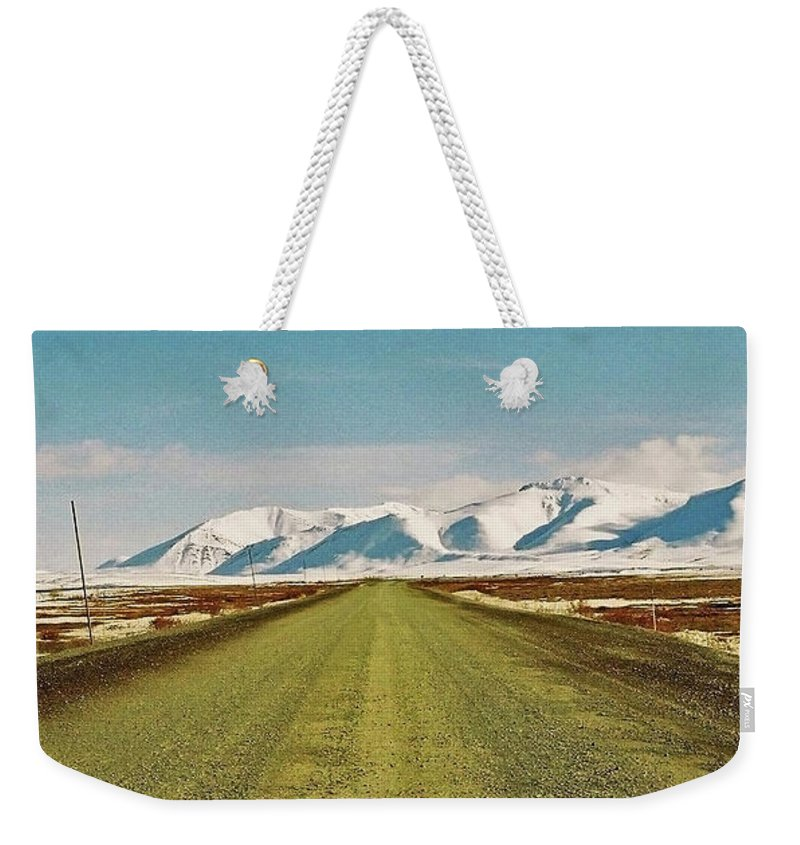 North America Weekender Tote Bag featuring the photograph Dempster Highway - Yukon by Juergen Weiss