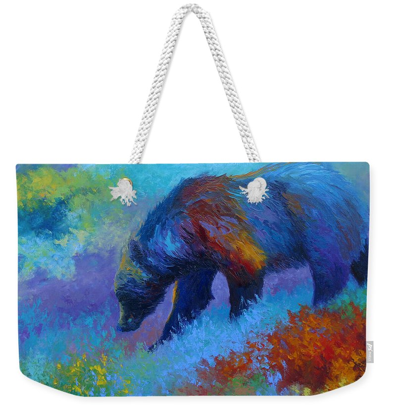 Western Weekender Tote Bag featuring the painting Denali Grizzly Bear by Marion Rose
