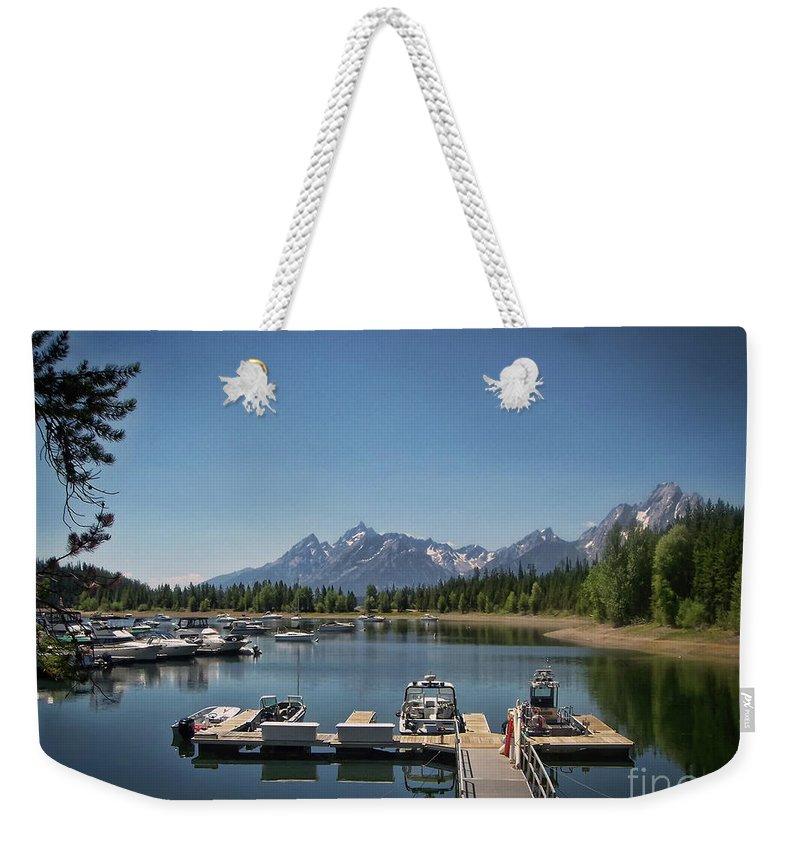 Denali Weekender Tote Bag featuring the photograph Denali Park Marina by Janice Pariza