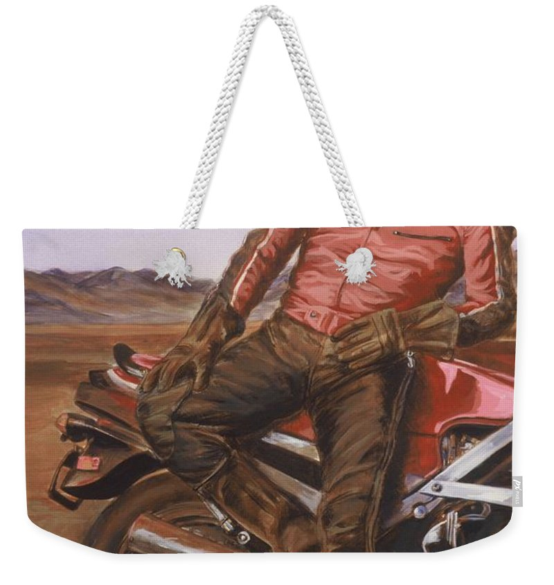 Dennis Hopper Weekender Tote Bag featuring the painting Dennis Hopper by Bryan Bustard
