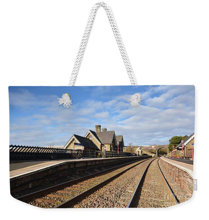 Railway Station Weekender Tote Bags