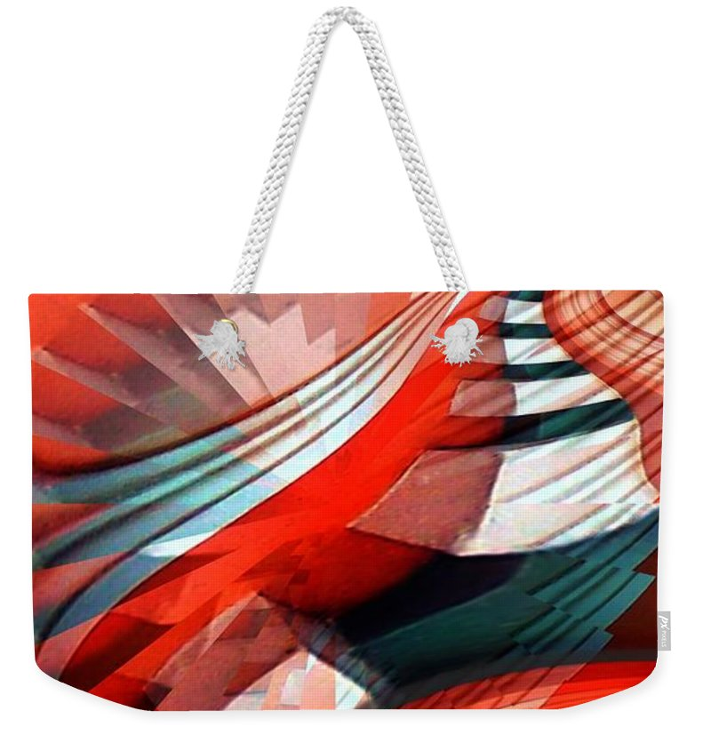Architecture Weekender Tote Bag featuring the digital art Dentils by Ron Bissett
