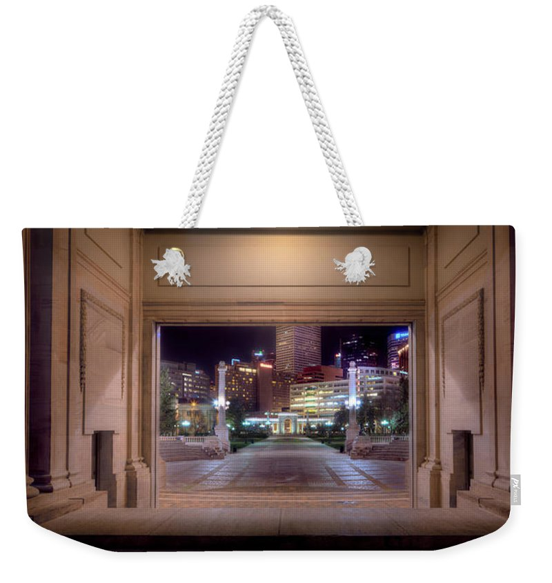 Denver Weekender Tote Bag featuring the photograph Denver Civic Center Park by James O Thompson