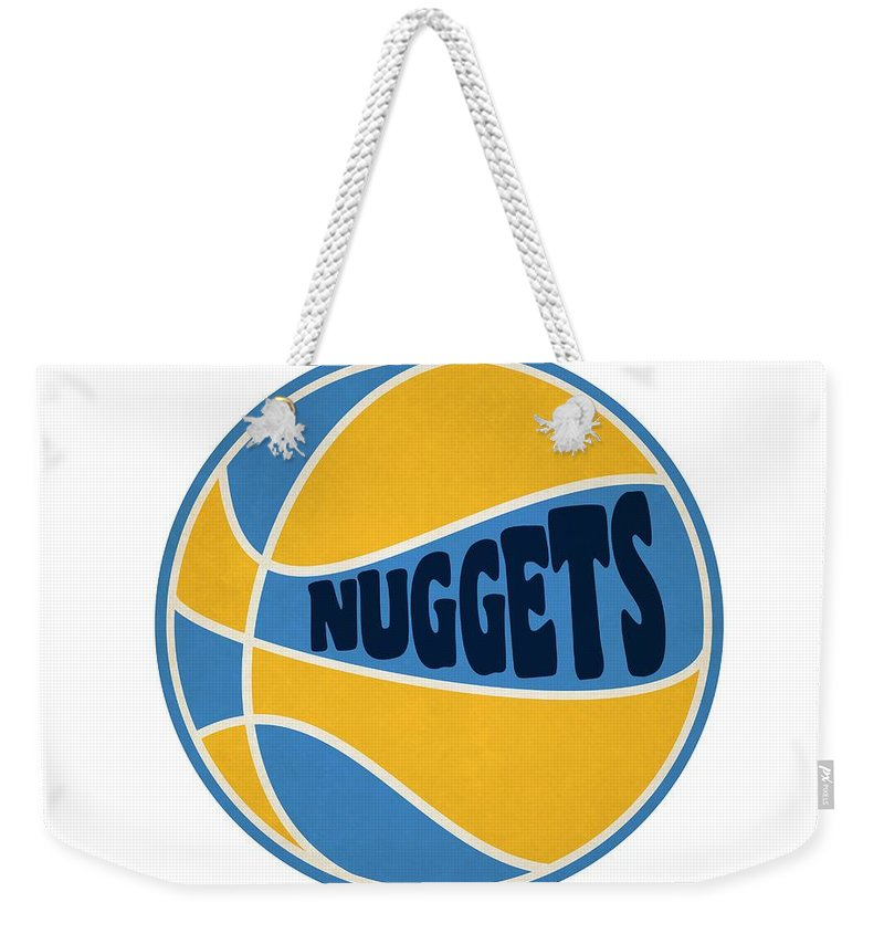 Nuggets Weekender Tote Bag featuring the photograph Denver Nuggets Retro Shirt by Joe Hamilton