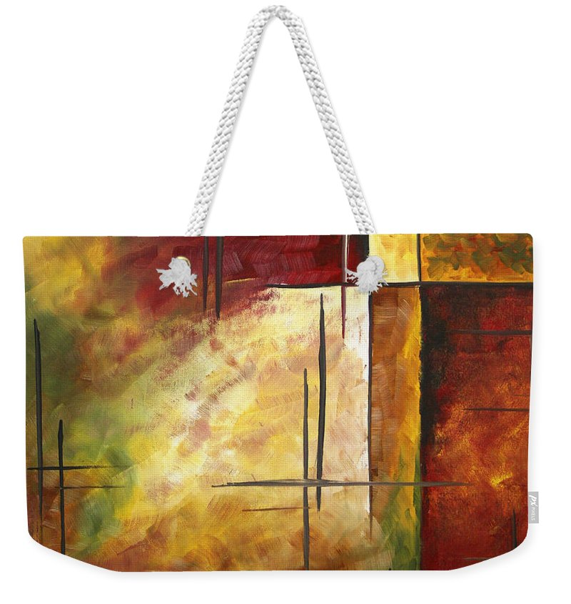 Abstract Weekender Tote Bag featuring the painting Depth Of Emotion II By Madart by Megan Duncanson