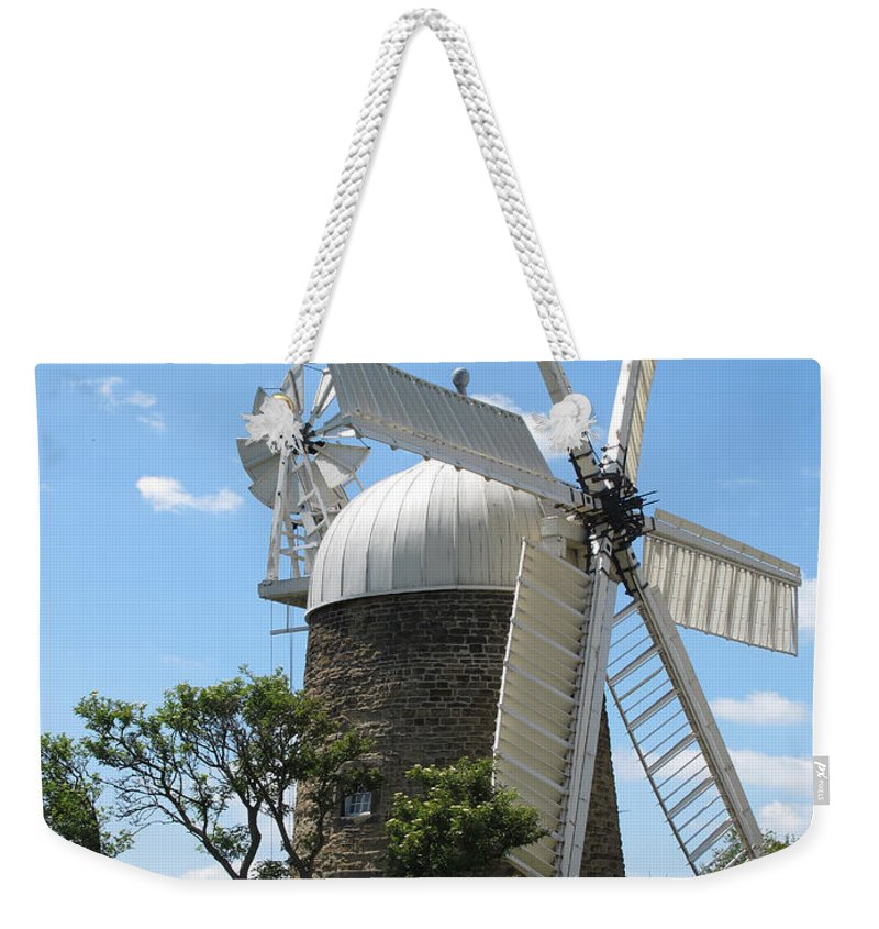 Windmill.derbyshire Windmill Weekender Tote Bag featuring the photograph Derbyshire Windmill by Bob Kemp