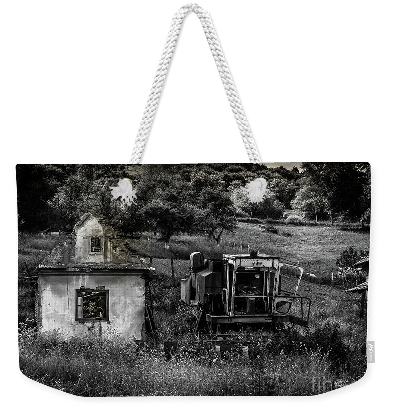 Derelict Weekender Tote Bag featuring the photograph Derelict Farm, Transylvania by Perry Rodriguez