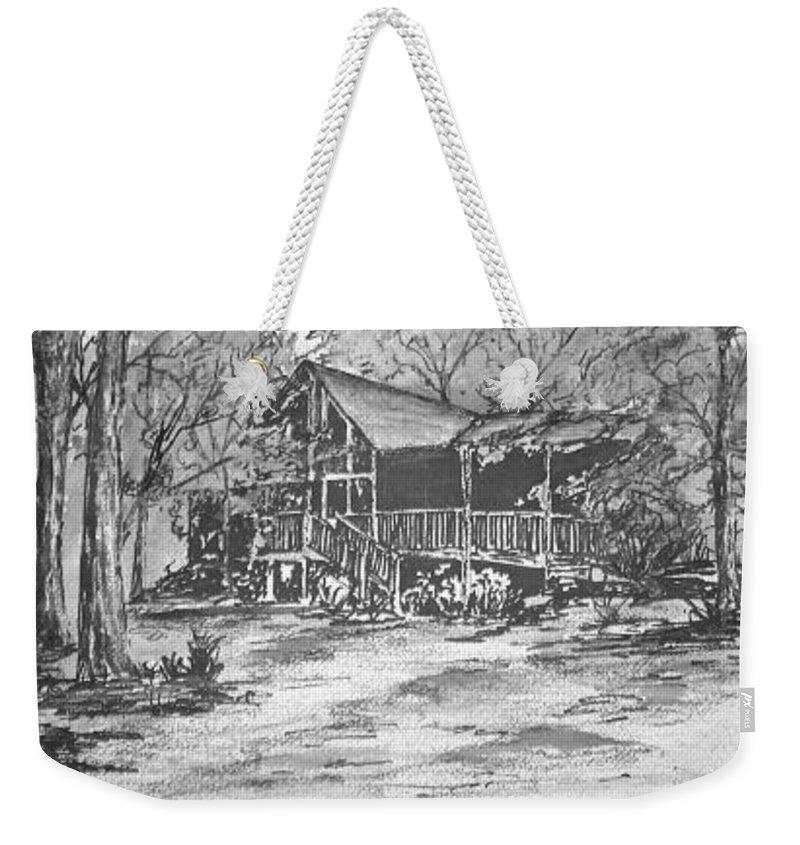 Barn Weekender Tote Bag featuring the painting Derrick by Derek Mccrea