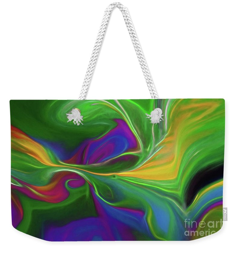 Abstract Weekender Tote Bag featuring the photograph Descending Into Darkness by Patti Schulze