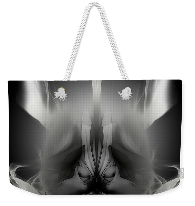 Clay Weekender Tote Bag featuring the digital art Descent by Clayton Bruster