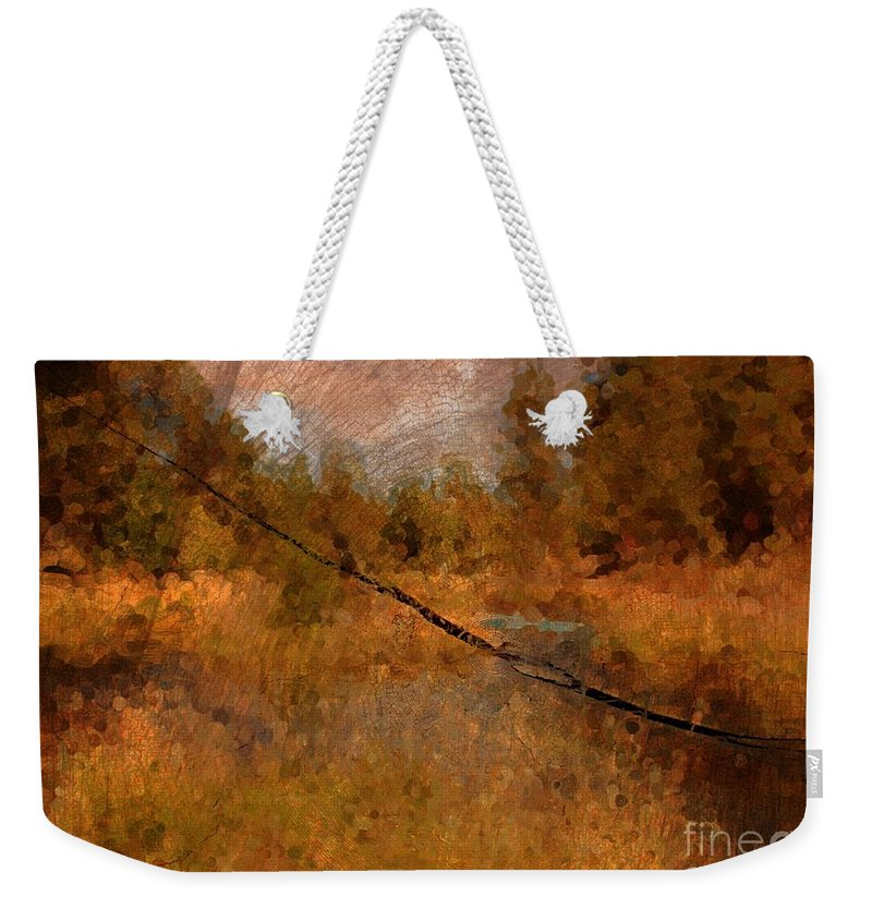 Oregon Landscape Weekender Tote Bag featuring the photograph Deschutes River Abstract by Carol Groenen