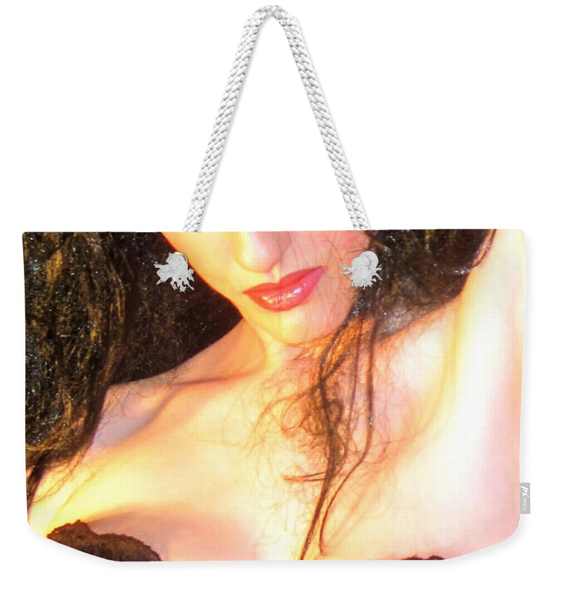 Sultry Weekender Tote Bag featuring the photograph Desdemona - Fierce - Self Portrait by Jaeda DeWalt
