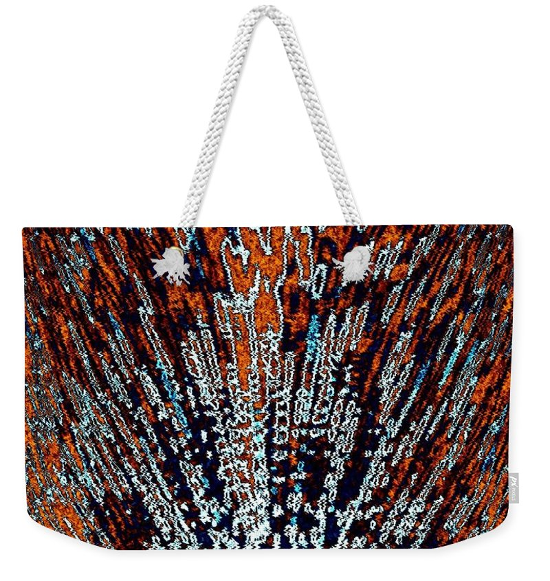 Abstract Weekender Tote Bag featuring the digital art Desert Brambles by Will Borden