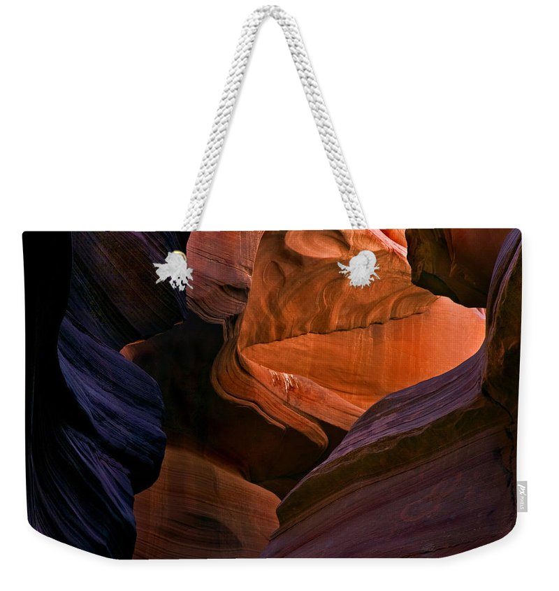 Sandstone Weekender Tote Bag featuring the photograph Desert Bridge by Mike Dawson