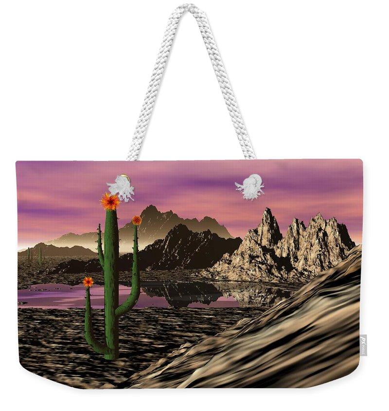 Digital Painting Weekender Tote Bag featuring the digital art Desert Cartoon by David Lane