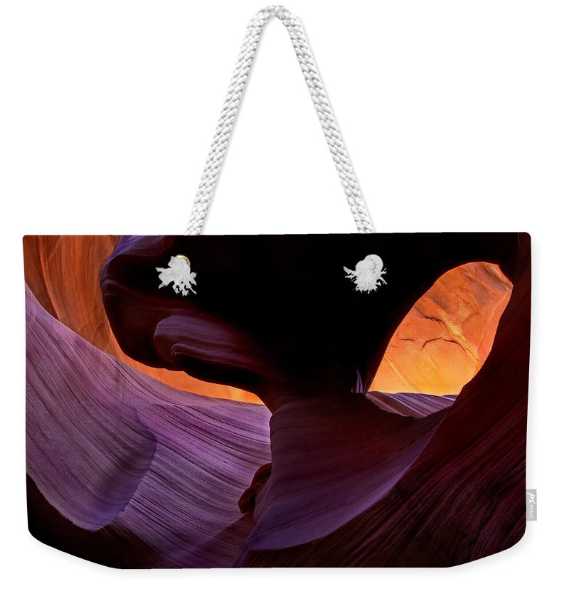 Eye Weekender Tote Bag featuring the photograph Desert Eye by Mike Dawson