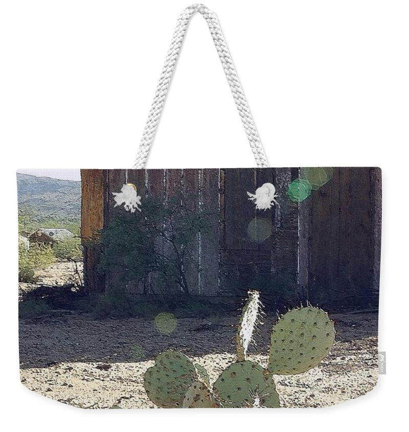 Cabin Weekender Tote Bag featuring the photograph Desert Home by Nelson Strong