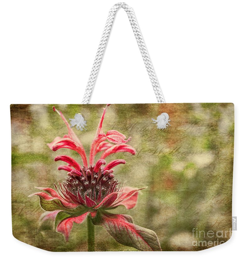 Beebalm Weekender Tote Bag featuring the photograph Desert Longing by Jean OKeeffe Macro Abundance Art