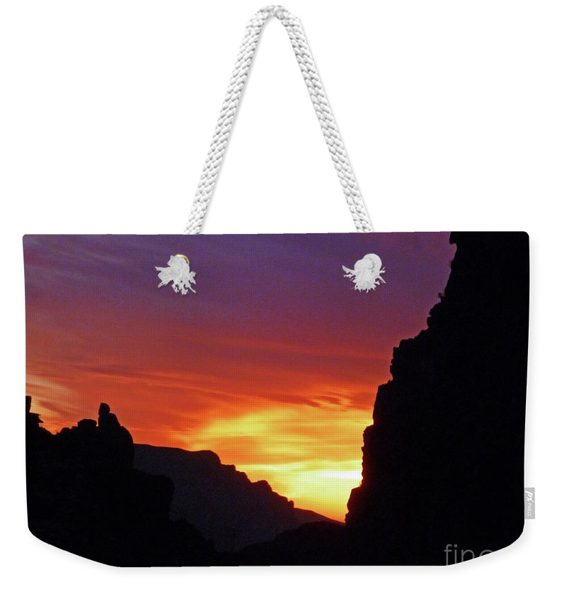 Desert Mountain Sunset Weekender Tote Bag featuring the photograph Desert Mountain Sunset by Methune Hively