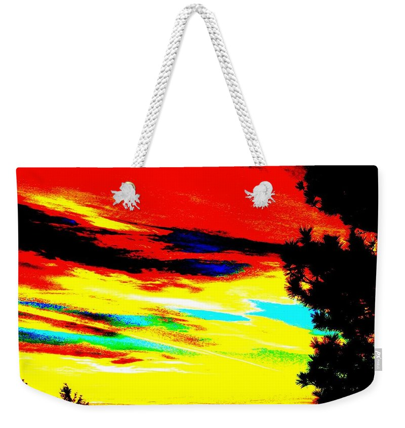Abstract Weekender Tote Bag featuring the digital art Desert Sky by Will Borden