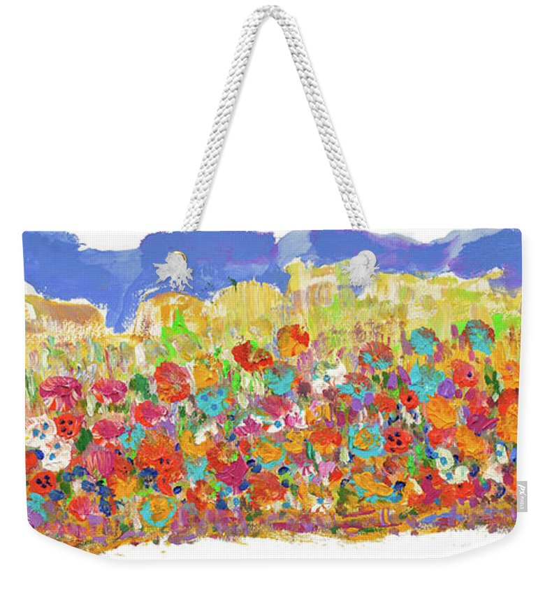 Hillcountry Weekender Tote Bag featuring the painting Desert Stars by Bjorn Sjogren