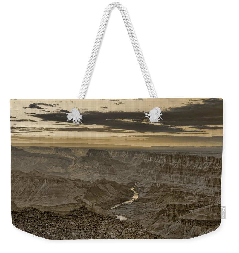 Grand Weekender Tote Bag featuring the photograph Desert View II - Anselized by Ricky Barnard
